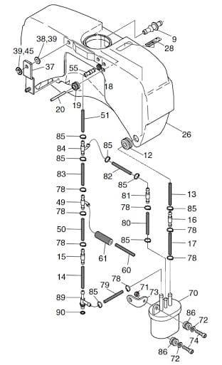 HATZ 1B20 1B30 1B40 filtr paliwa 50539200 MGS-Technics