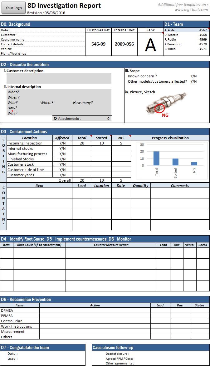 ishikawa fishbone diagram template 3 way light wiring 8d tool   management tools