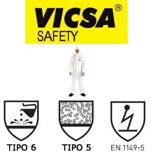 Macacão de segurança Vicsa Tivek Branco