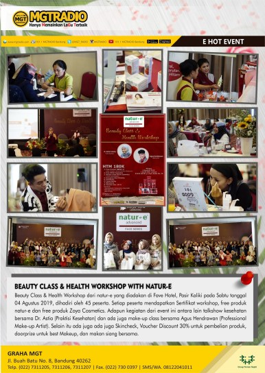 Beauty Class & Health Workshop With Natur-e