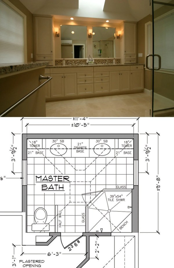 Master Bathroom Designs and Floor Plans