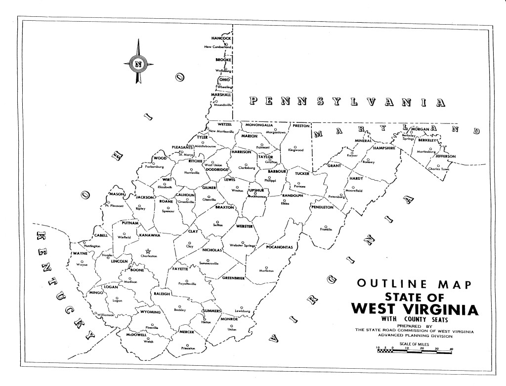 West Virginian State Maps