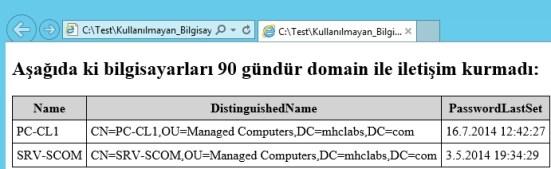 Orchestrator Kullanarak Domain Ortamında ki Eski Bilgisayar Hesaplarının Raporlanması_20