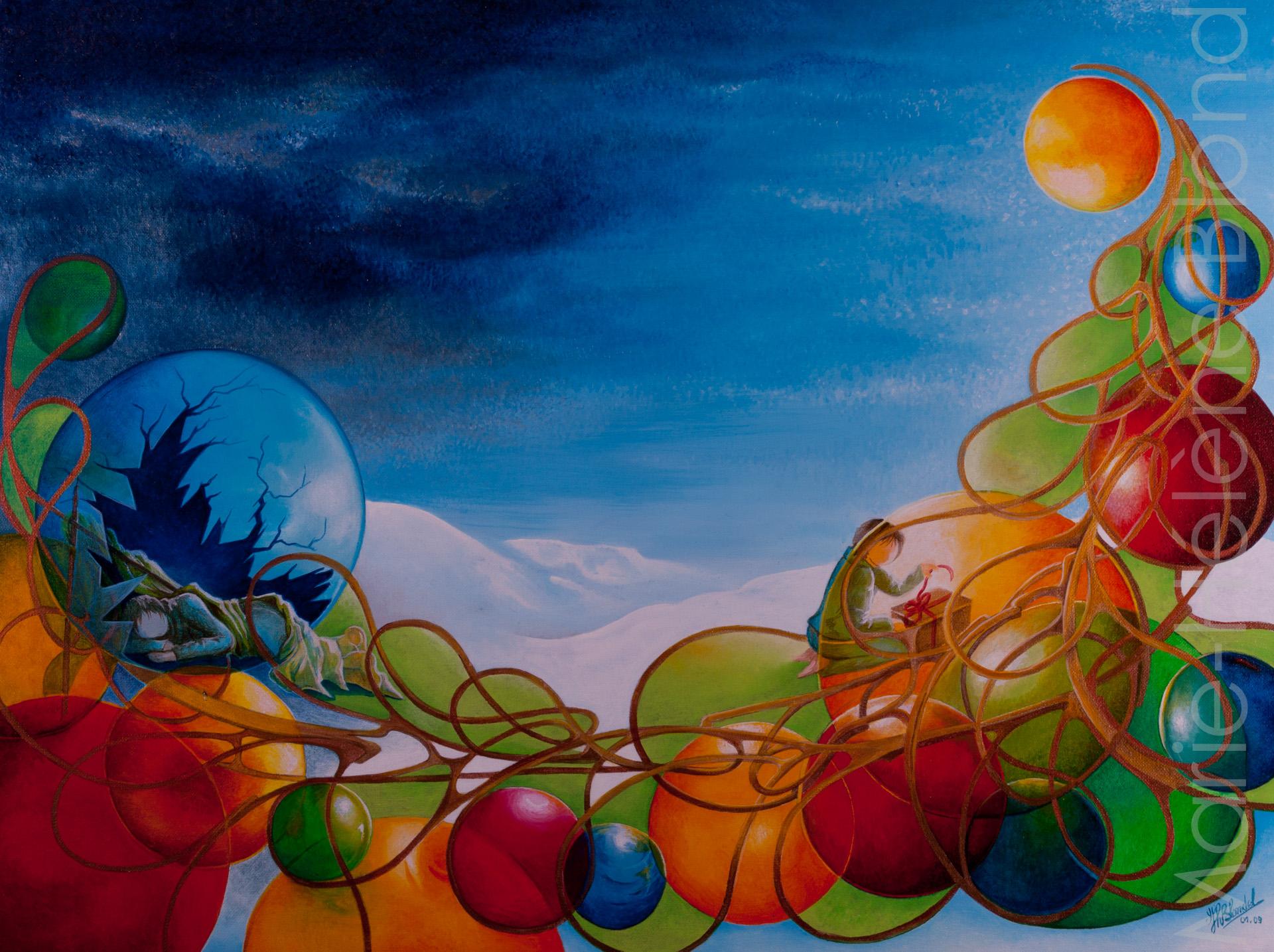 Noël pour tous – 2009 – Acrylique sur toile – 60 X 80