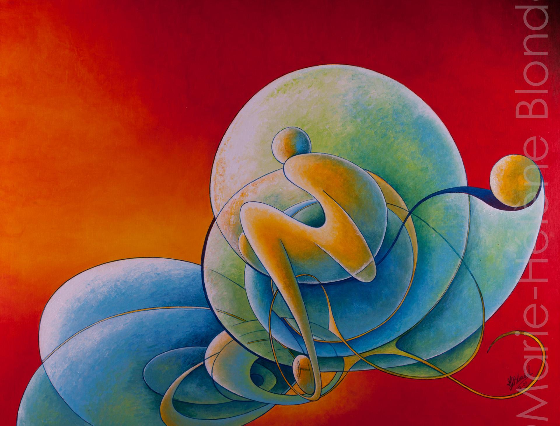 Plénitude – 2009 – Acrylique sur toile – 70 X 90