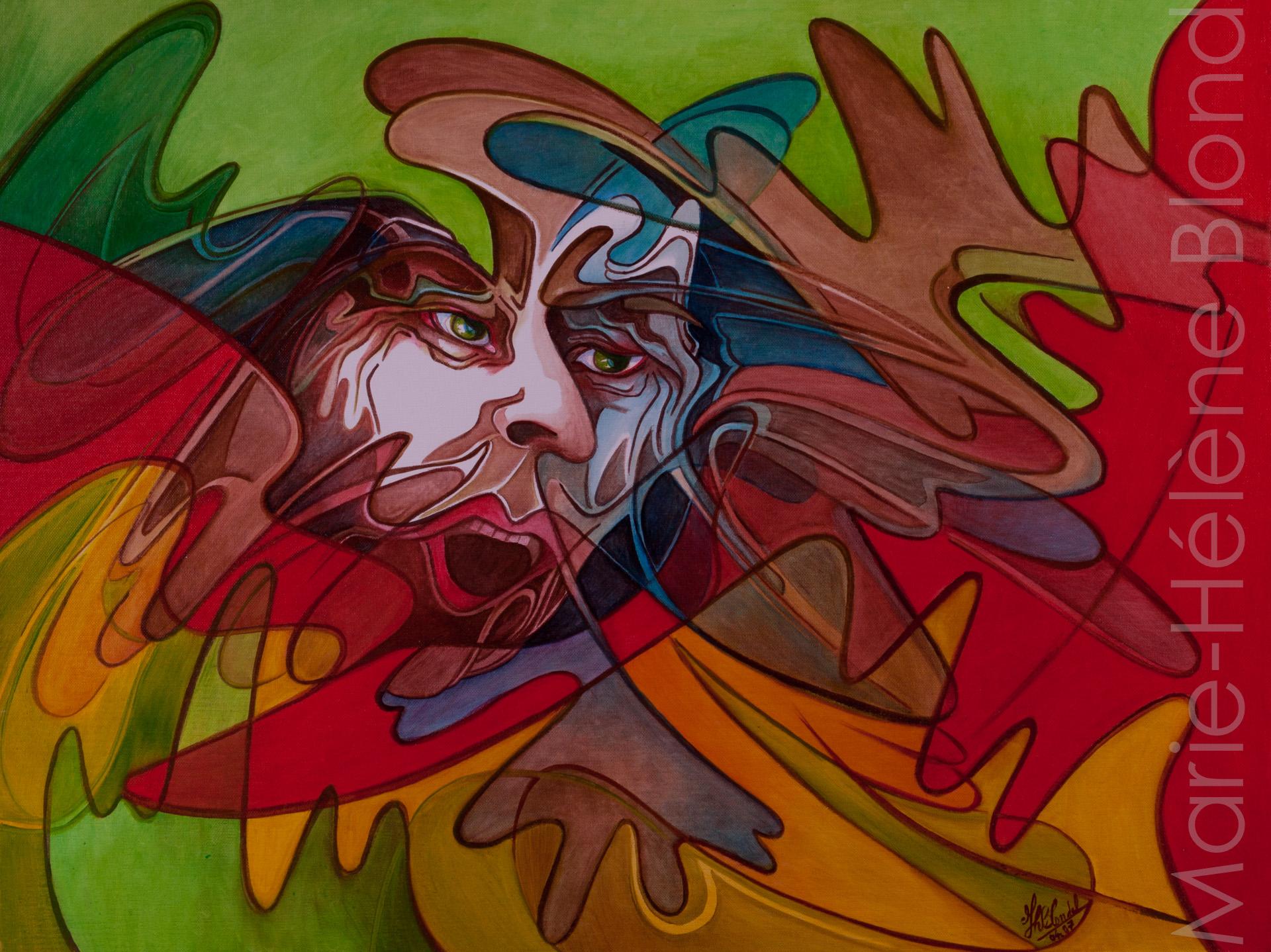 Le cri – 2007 – Huile sur toile – 46 X 61