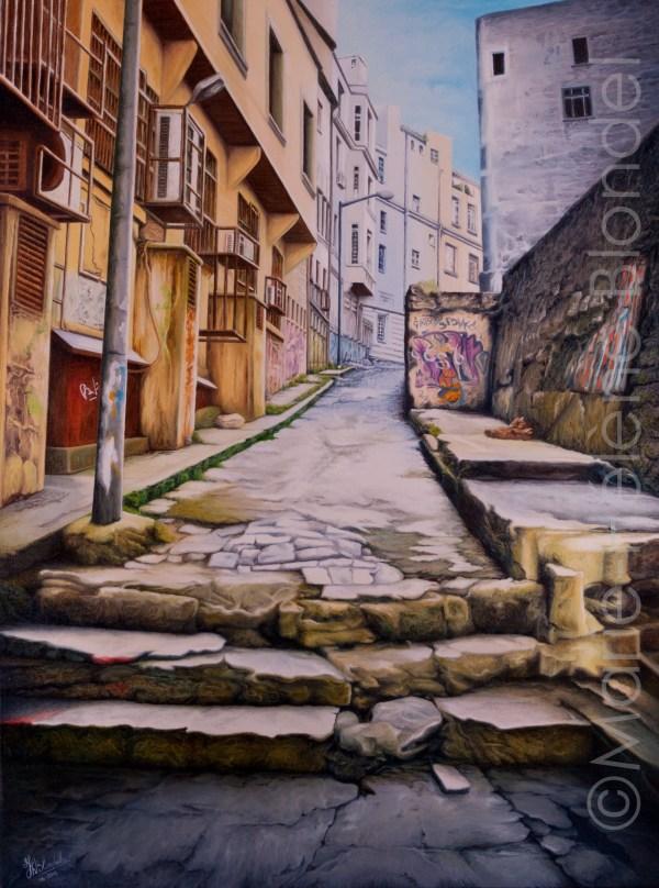 Petite rue d'Istanbul – 2012 – Huile sur toile – 80 X 60 – 480€