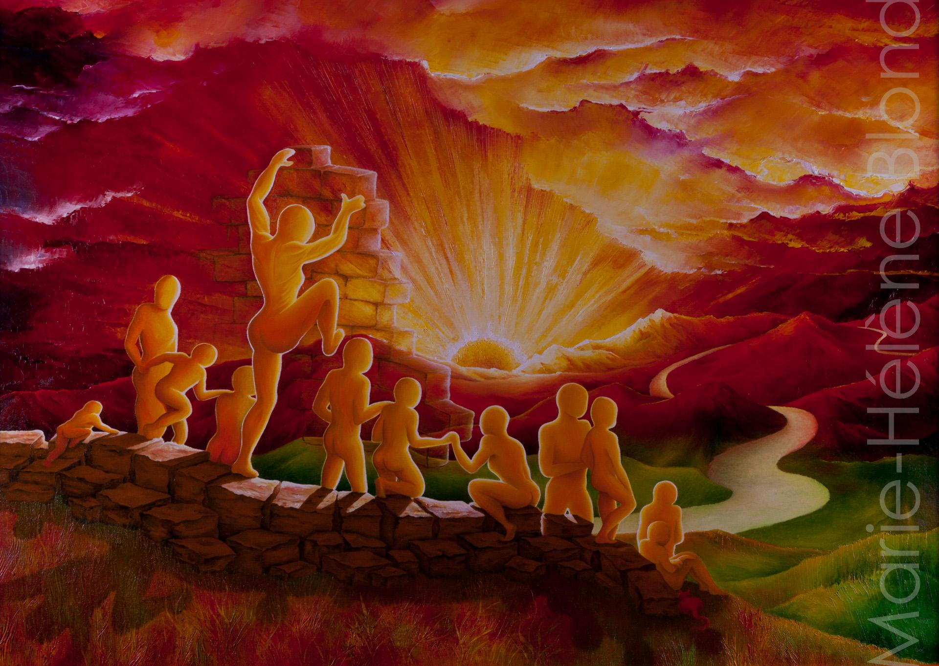Le mur – 2002 – Huile sur toile – 65 X 92 – 600€