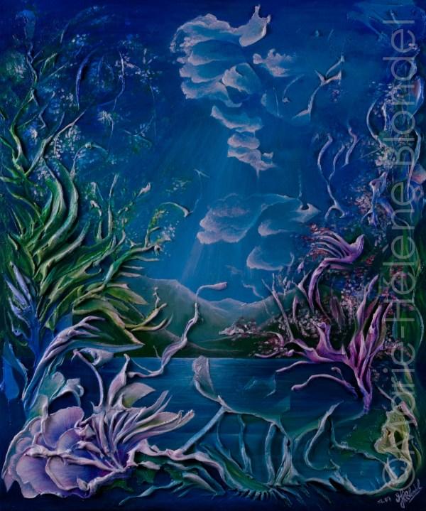 Rêve de lac – 2007 – Acrylique sur toile – 60 X 50 – 300€