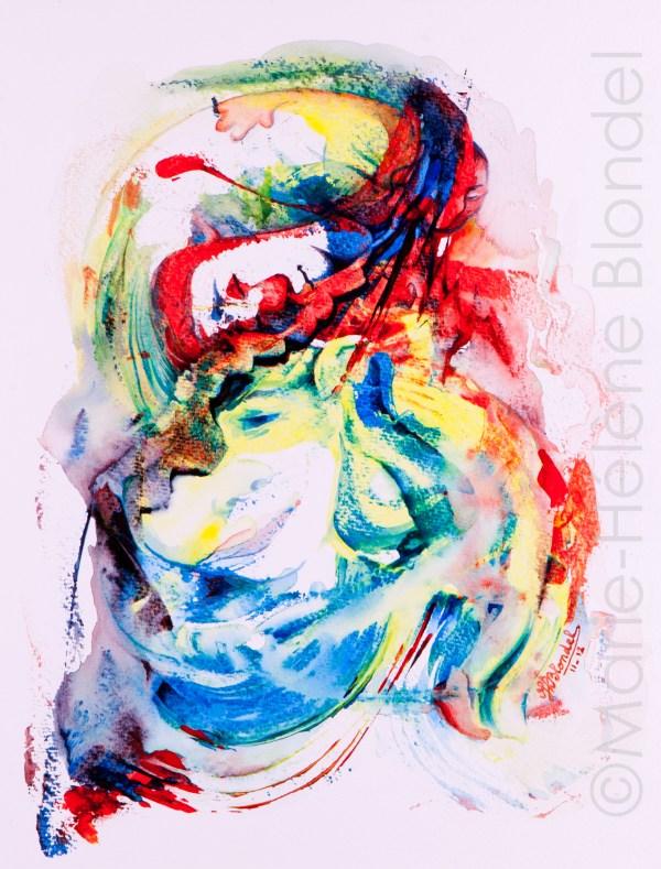 Clownerie – 2012 – Acrylique sur papier – 40 X 30