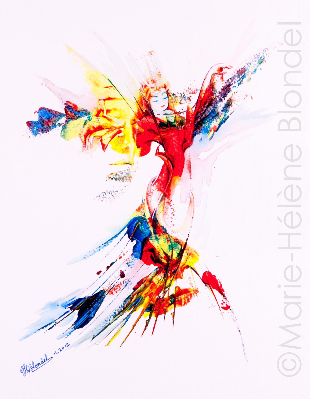 Elfée – 2012 – Acrylique sur papier – 40 X 30 – non dispo