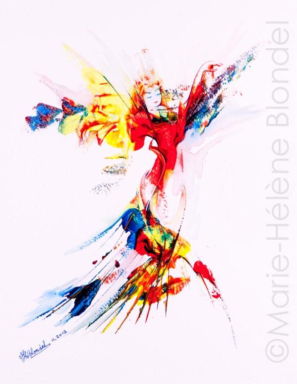 Elfée – 2012 – Acrylique sur papier – 40 X 30