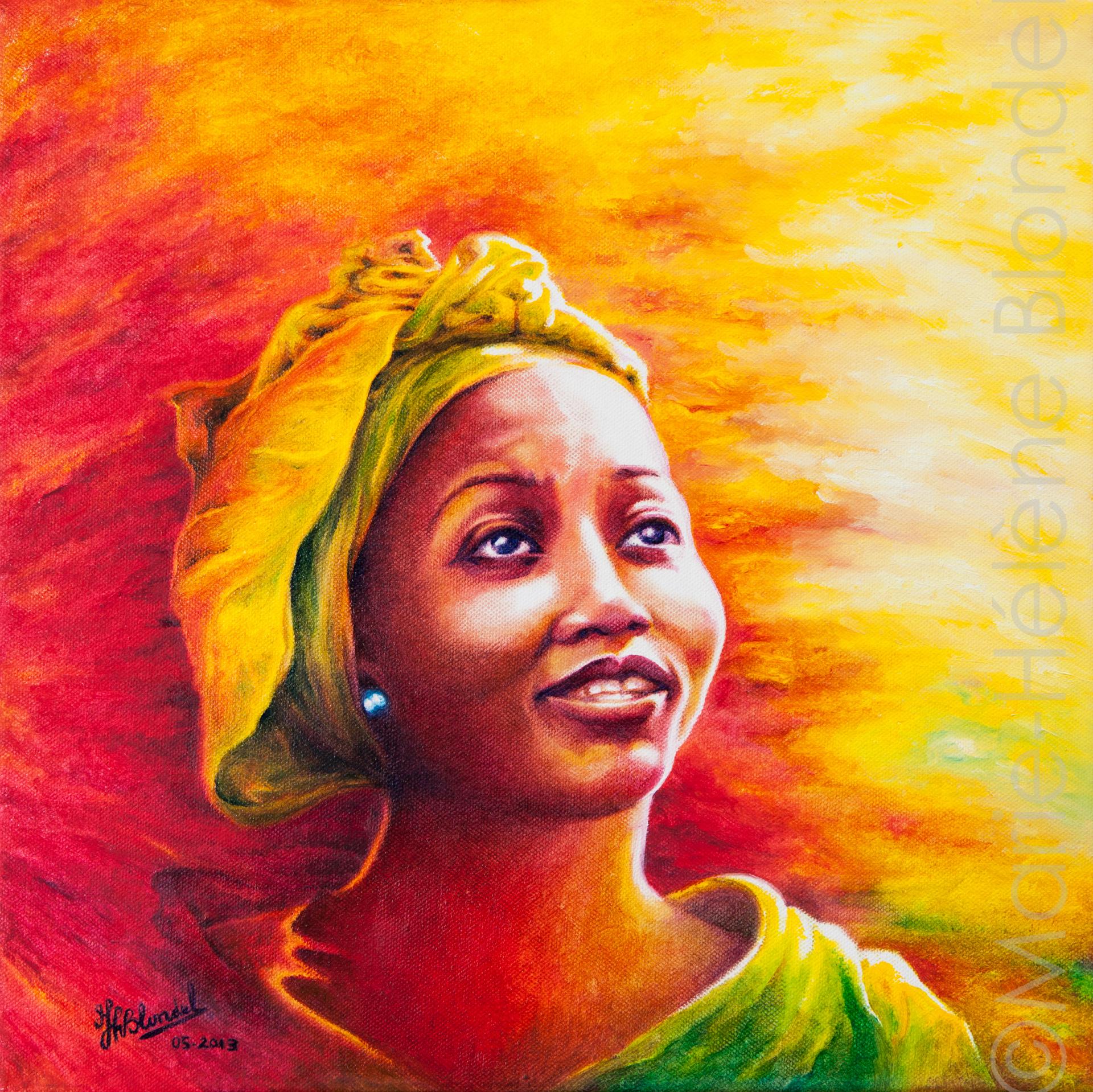 Afrika – Huile sur toile – 40 X 40 – 160€