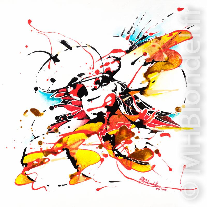 Splash – Acryliques sur toile – 40 X 40 cm – 150€
