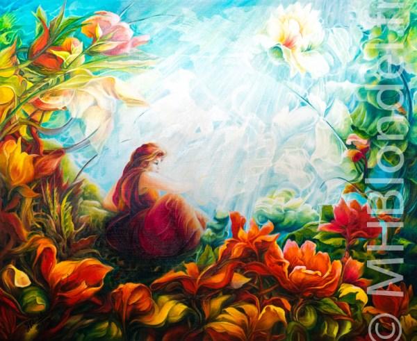 Romantique – Huile sur toile – 60 X 73 cm – 600€