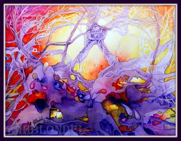 Sweet home – Aquarelle sur papier – 30 X 40 cm – 140€