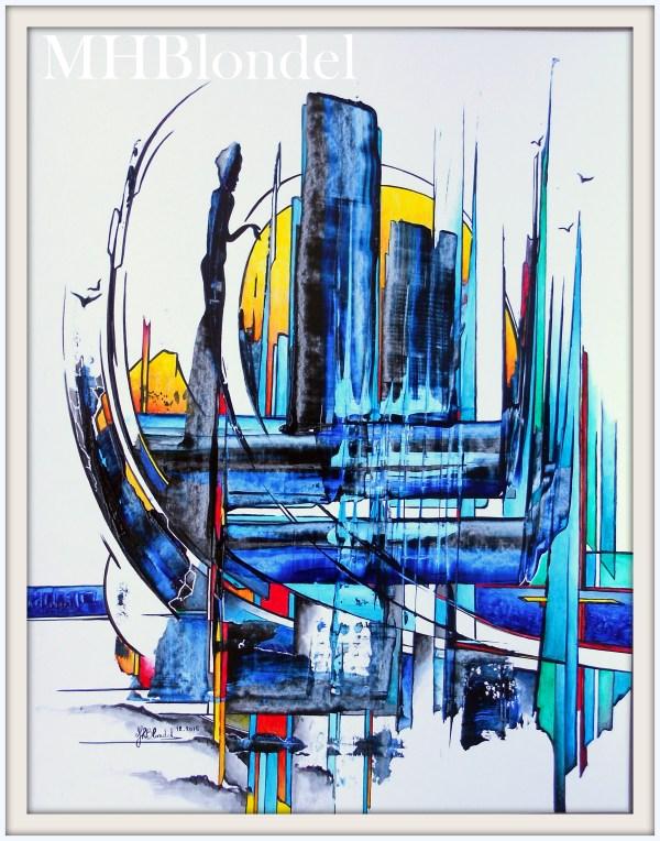 La vogue bleue – Acrylique sur carton – 50 X 65 cm – Non disponible