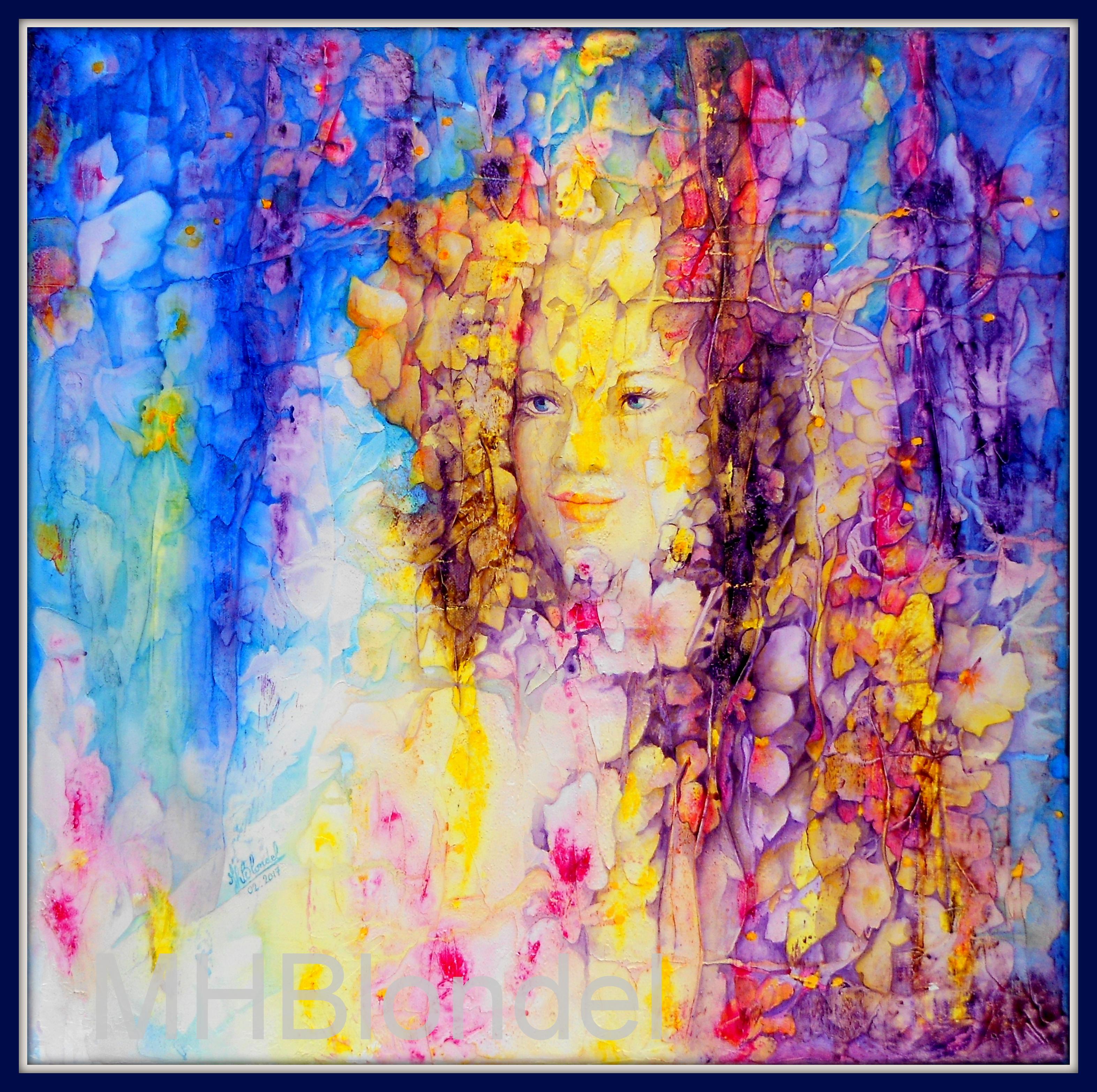 Promesse de printemps – Acrylique sur toile – 60 X 60 cm – 400€