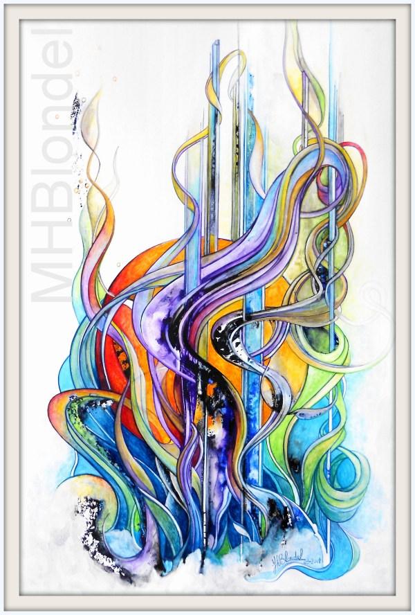 Volubilis – Aquarelle sur carton fort – 60 X 40 cm – 230€
