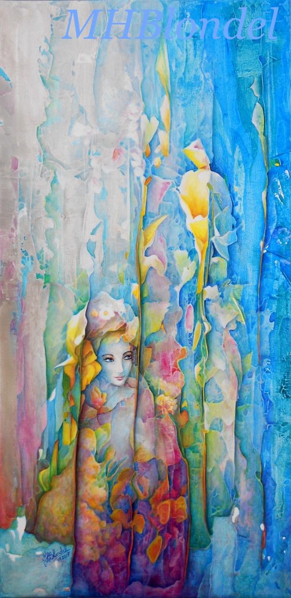 Fugue – Acrylique sur toile – 40 X 80 cm – 450€