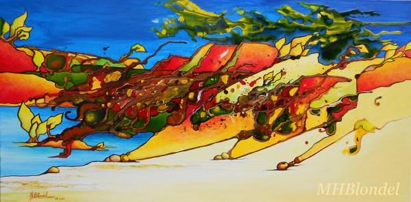 Improbables dunes – Techniques mixtes sur toile – 40 X 80 cm – Non disponible