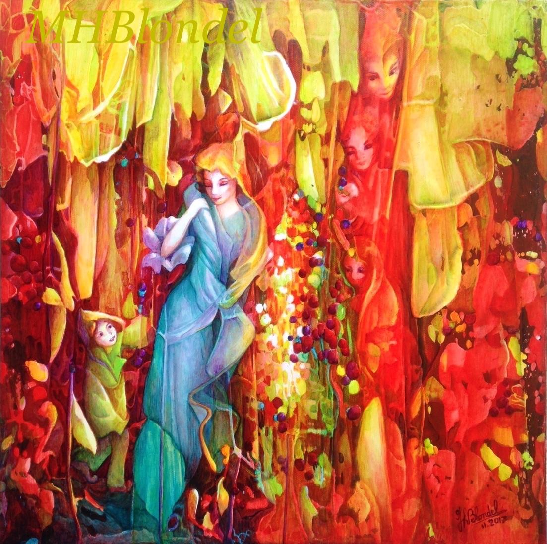 Invitation – Acrylique sur toile – 40 X 40 cm – 250€