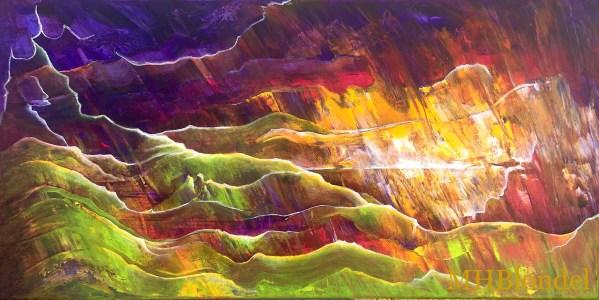 Dream Land 7 – Acrylique sur toile – 30 X 60 cm – 200€