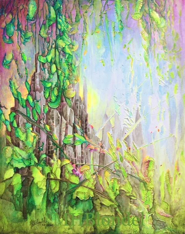 La revanche de Dame Nature – Acrylique sur toile – 50X40cm – 300€
