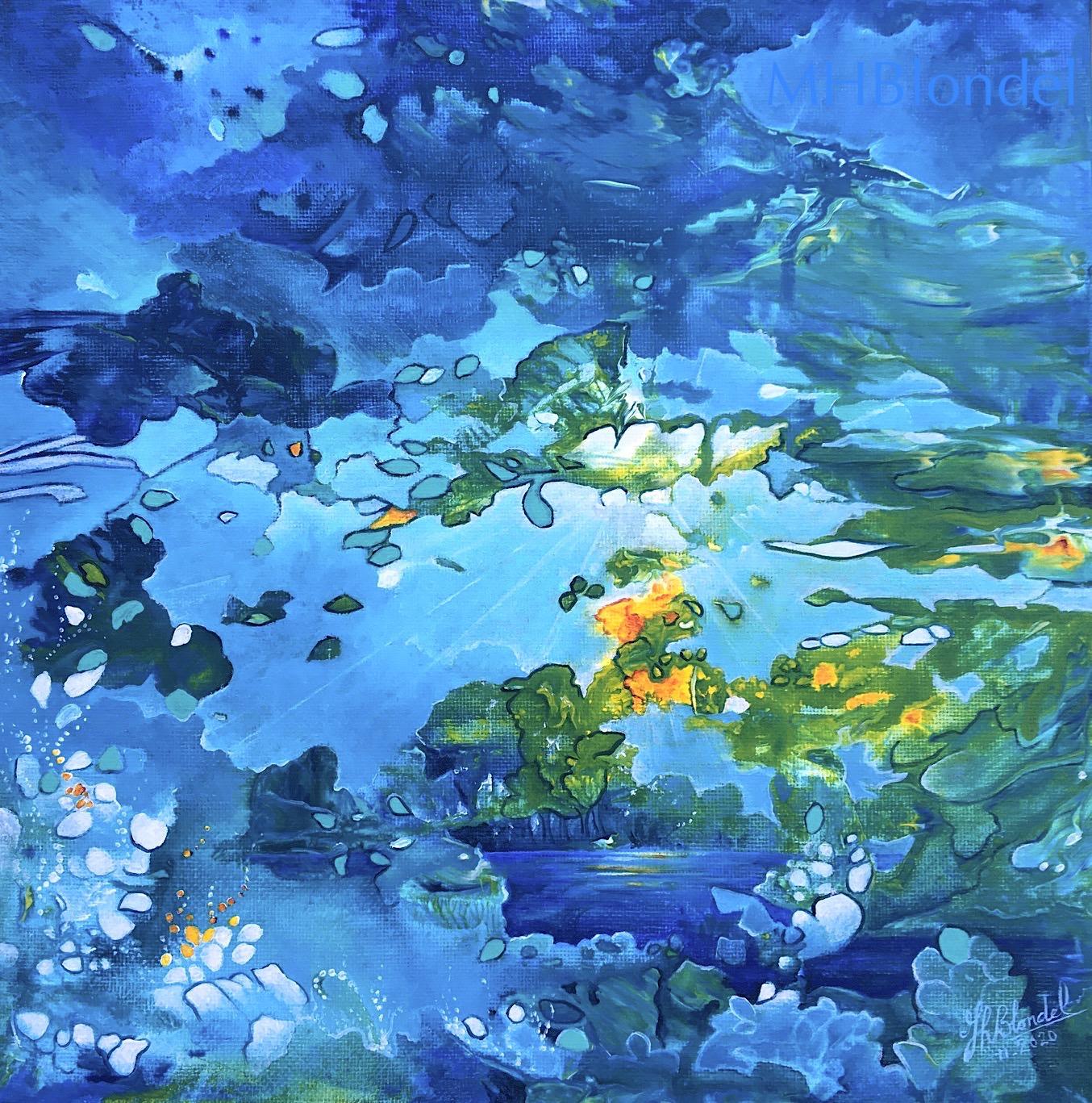 La vie en bleu – Acrylique – 30X30cm – 90€