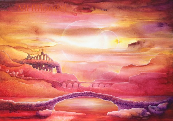 In the kingdom of sands – Acrylique – 46X65cm – 300€