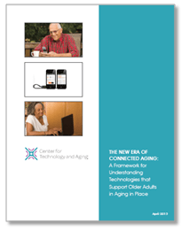 "Click to view ""The New Era of Connected Aging,"" a report by the Center for Technology and Aging"