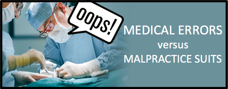 Medical Errors versus Malpractice Lawsuits