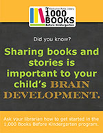 Sharing books and stories is important to your child's brain development.