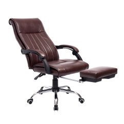 Reclining Office Chair With Footrest India Folding Wall Rack Modern Adjustable Swivel