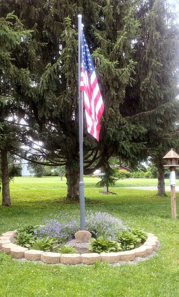 mobile home makeover flagpole