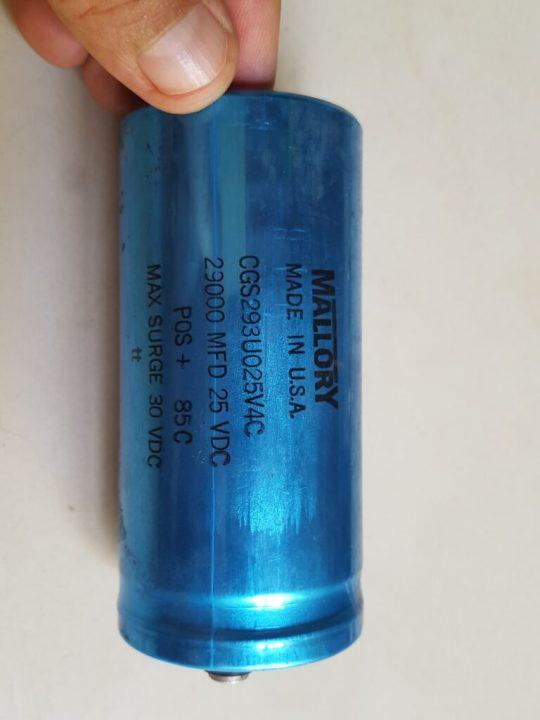 Atlas 220 CS Power Supply LOT#4 Mallory 29000 MFD 25 VDC