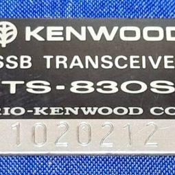 Kenwood TS-830S Original Back Tag Used