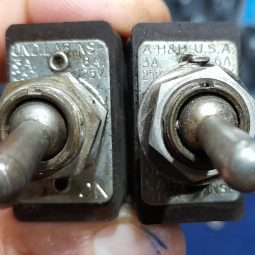 Hammarlund HQ-140-X Original Front Switch Pair Used