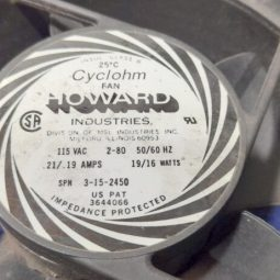 Cubic 1500ZA Original Howard Industries 115V Fan USA Used Working