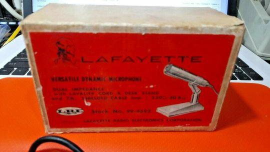 Lafayette Vintage Dynamic Microphone Part 99-4592 250 OHM/50OHM NOS 1