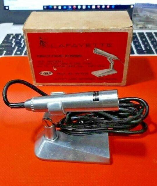 Lafayette Vintage Dynamic Microphone Part 99-4592 250 OHM/50OHM NOS 5