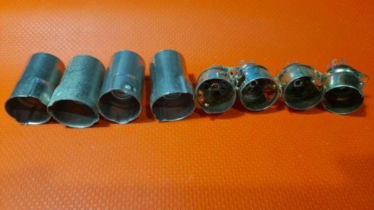 4 PCS Vintage CINCH MFG 7 Pin Complete TS102P01 Tube Sockets NOS