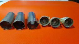 3 PCS Vintage CINCH MFG 9 Pin Complete Tube Sockets NOS