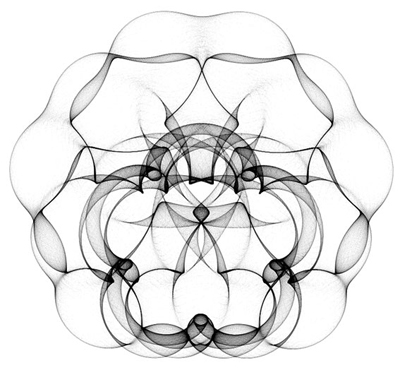 Geometric patterns design with recursive pursuit relative