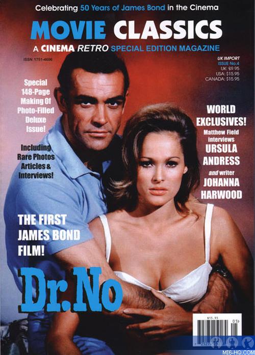 Cinema Retro Dr No Tribute Magazine  Collecting  MI6