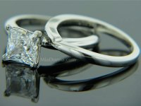 1.5ct Princess Cut Tiffany Platinum Wedding Ring Set ...