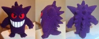 Gengar made by Rosario. Awww, he turned out so cuute! Love him
