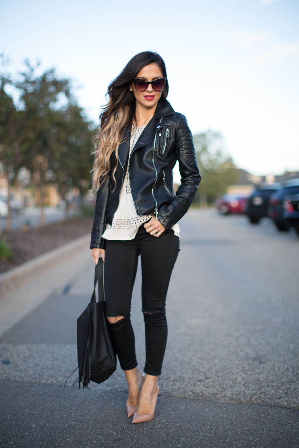 Leather Jacket  Skinny Jeans  Mia Mia Mine