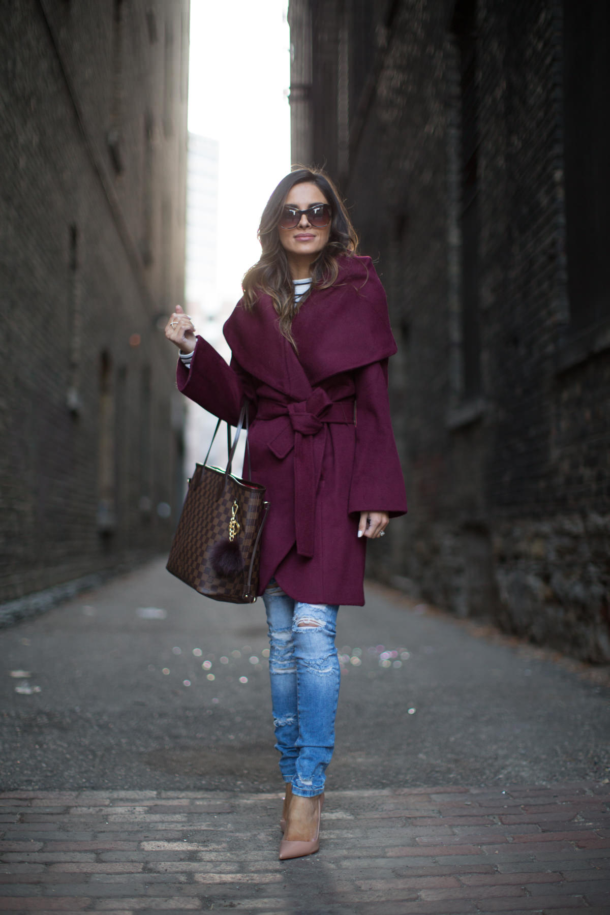 Burgundy Robe Coat  Mia Mia Mine