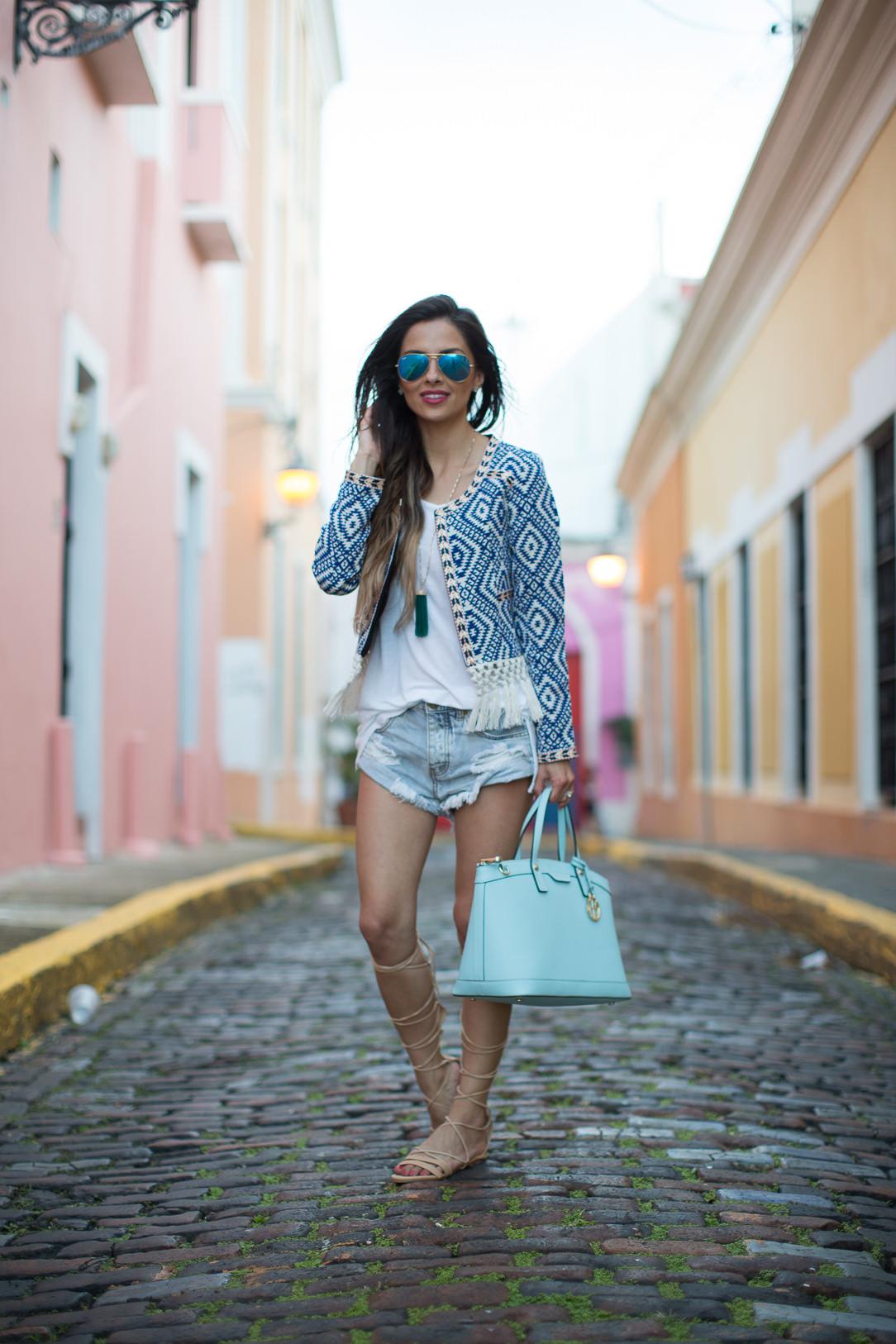 Fringe Jacket In San Juan Mia Mia Mine
